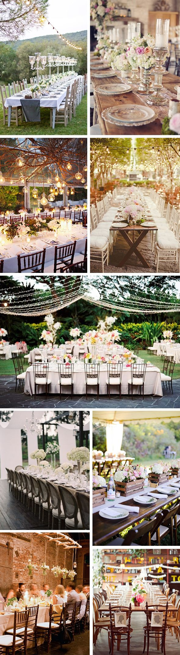 I'm a sucker for long wedding tables!