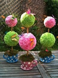 Image result for teacup flowerless centerpieces