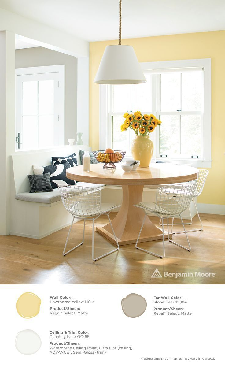 COLOR SPOTLIGHT Benjamin Moore Hawthorne Yellow YellowYellow Dining RoomDining