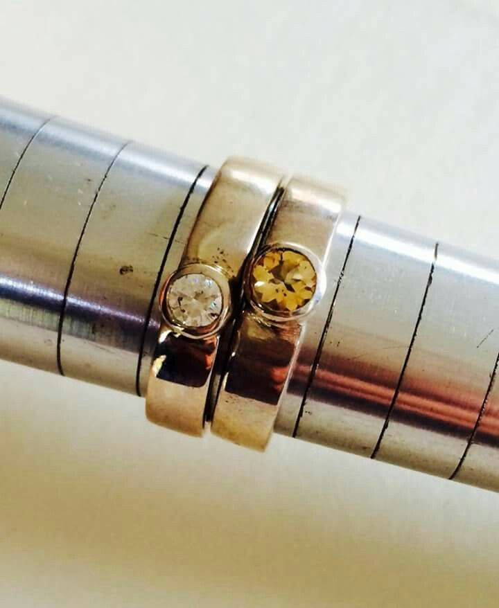 Citrine and cubic rings