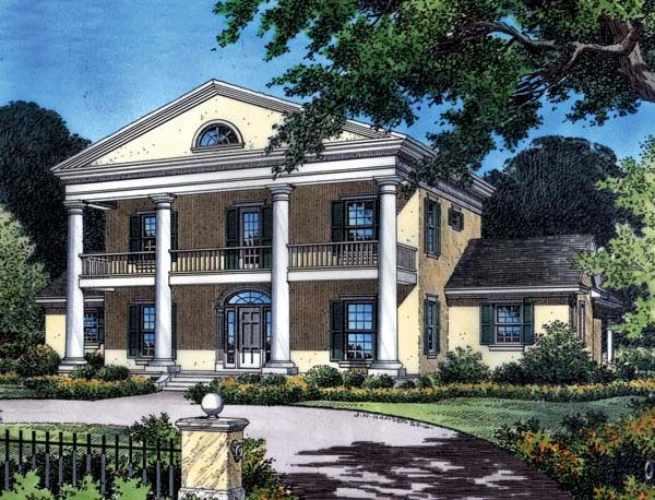 Colonial plantation southern house plan 63166 for Historic southern house plans