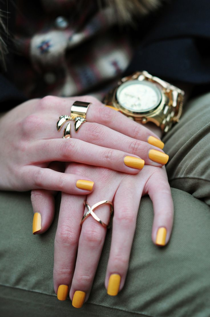 "A pop of yellow is sometimes all you need. Get the look with #OPI Brights shade ""The ""It"" Color!"""