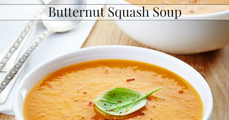 This butternut squash soup recipe is silky and delicious. Made this with homemade chicken broth.