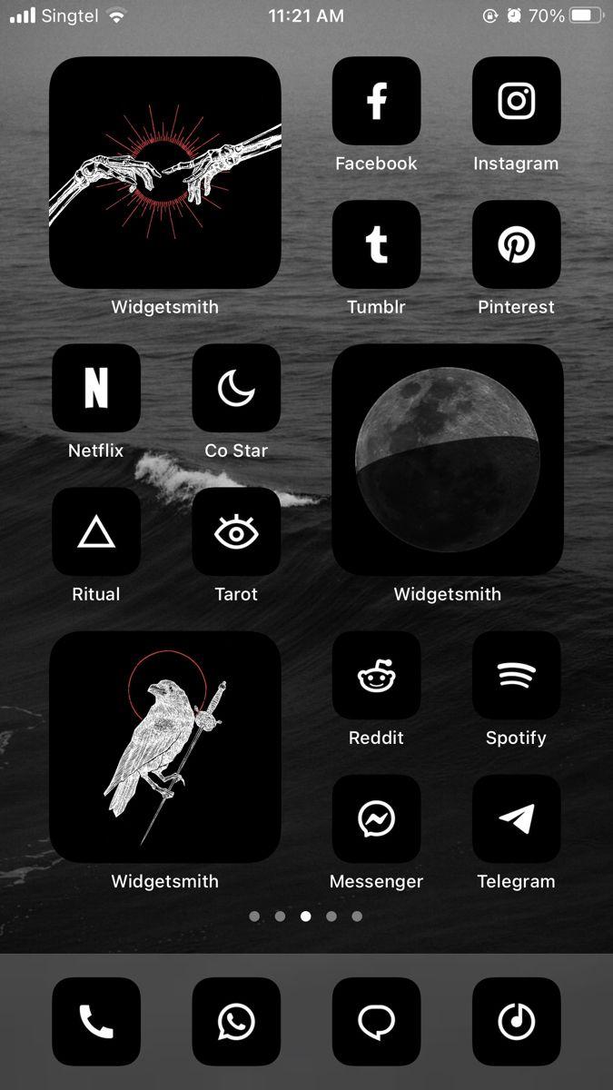 Ios 14 Home Screen Idea Ios Icon Ios App Icon Design Iphone Wallpaper App