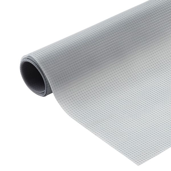 This is cabinet liner is waterproof! Perfect for under sinks! Grey Under Sink Mat