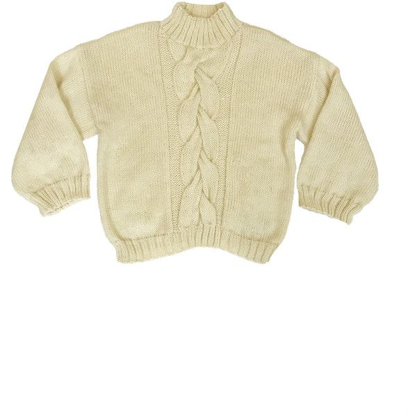 TACH Hanoi Mohair Sweater Cream LISA SAYS GAH (780 BRL) ❤ liked on Polyvore featuring tops, sweaters, beige sweater, cream sweater, cream top, woven top and beige top