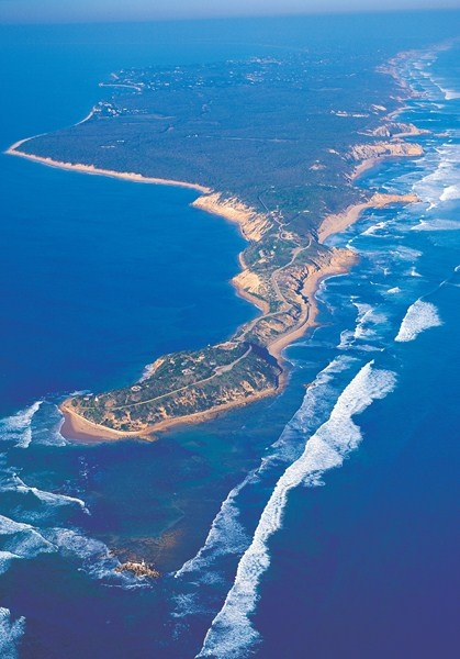 Point Nepean Aerial view. Mornington Peninsula, Victoria, Australia.