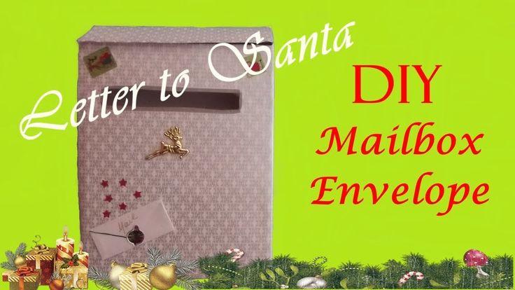 DIY Mailbox📮 DIY Envelope ✉️ Letter to Santa✉️🎅