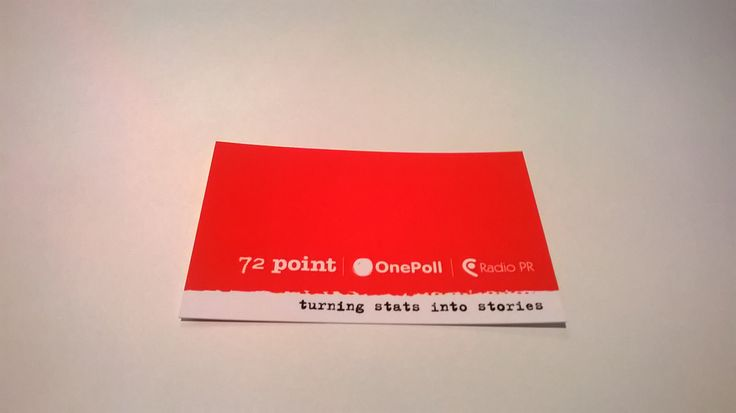 An example of one of our snazzy business cards.
