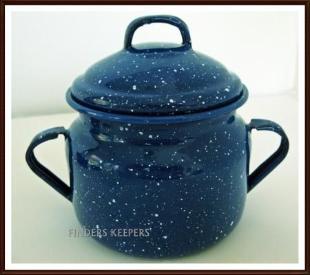 17 Best Images About Blue Speckled Enamel Cookware On