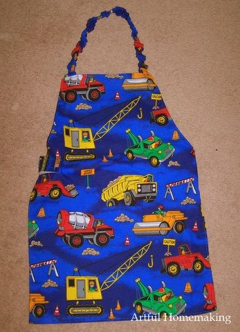 Artful Homemaking: Sewing for Boys-could use this as a craft smock for him when we do crafts at school!
