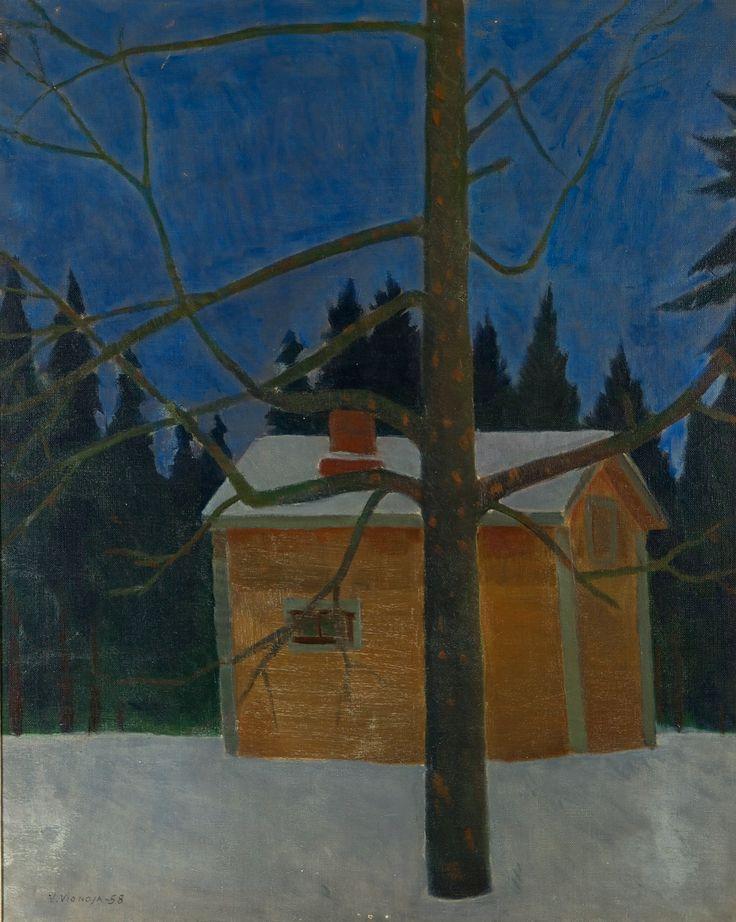 Veikko Vionoja: Puu, öljy, 74x59 cm - Hagelstam K134