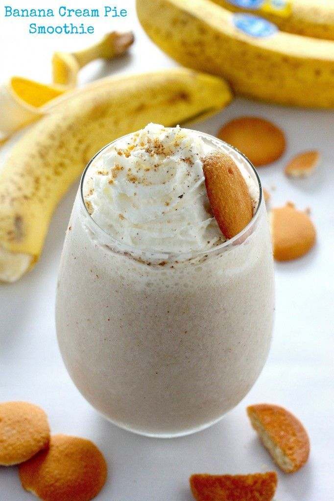 Healthy Banana Cream Pie Smoothie , OMG we are so excited try this!