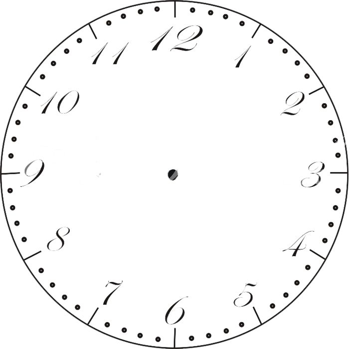 Watch Faces Clock Drawing School Decoupage Search Clocks Templates Watches