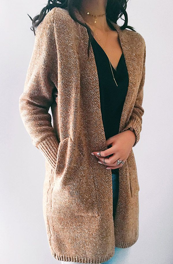 Chicnico Street Casual Knit Solid Color Open Collar Cardigan$44.99 Get ready for Fall fashion! Find fashionable outfits for the new