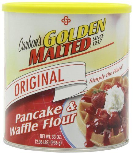 Golden Malted Pancake  Waffle Flour Original 33Ounce Cans 6 Cans -- Click on the image for additional details.(This is an Amazon affiliate link and I receive a commission for the sales)