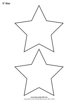Printable Star Stencil