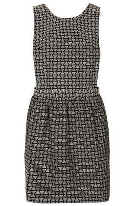 Dotty Jaquard Pinafore Dress - New In This Week  - New In