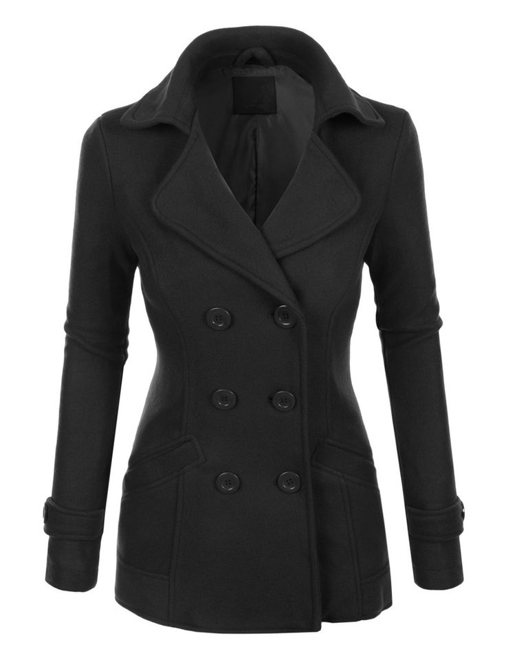Long Black Pea Coat Womens Fashion Women S Coat 2017