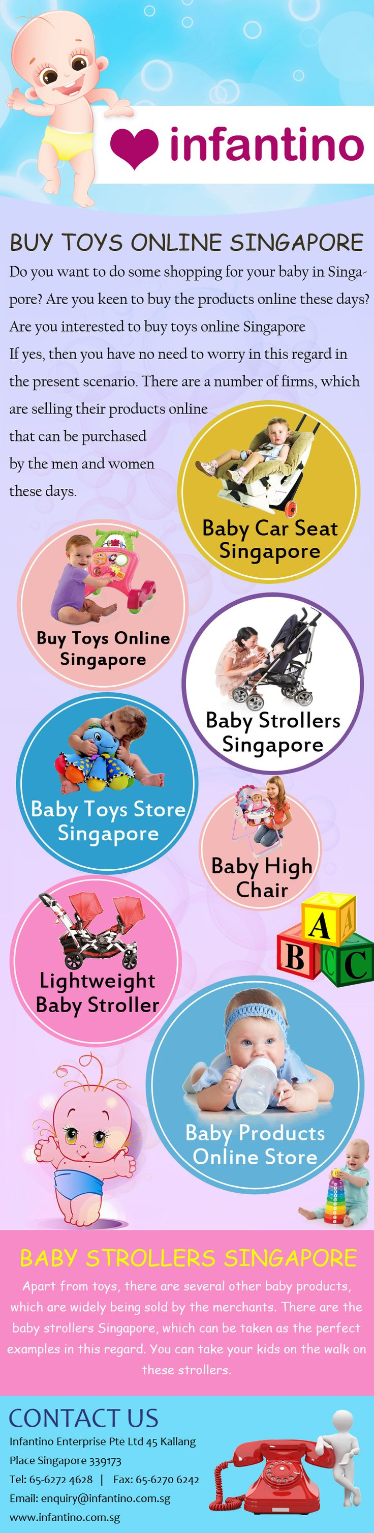 The baby toys are widely popular these days.They not only give fun to your kids, but they also teach them a lot of things, in a playable manner. Are you interested to buy toys online Singapore If yes, then you have no need to worry in this regard in the present scenario. More Info:- http://infantino.com.sg