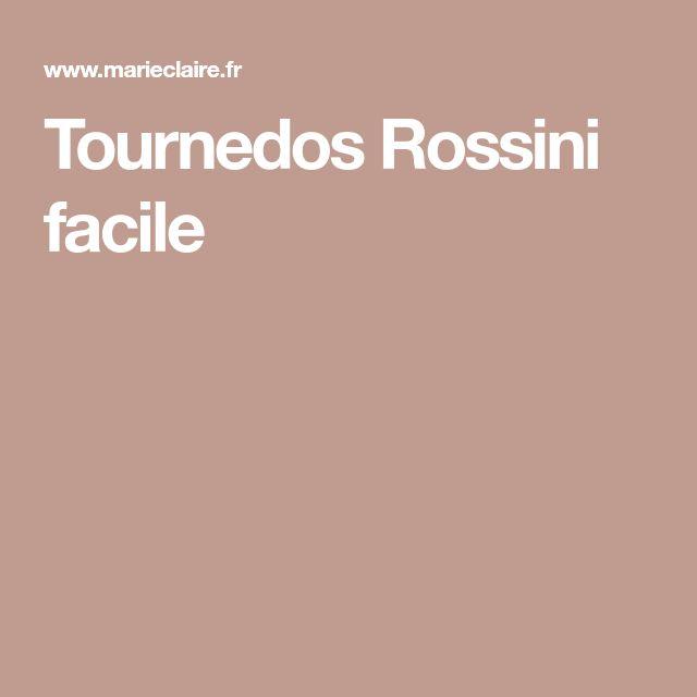 Tournedos Rossini facile