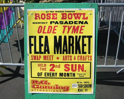 The Rose Bowl flea market happens on the second Sunday of every month in Pasadena.