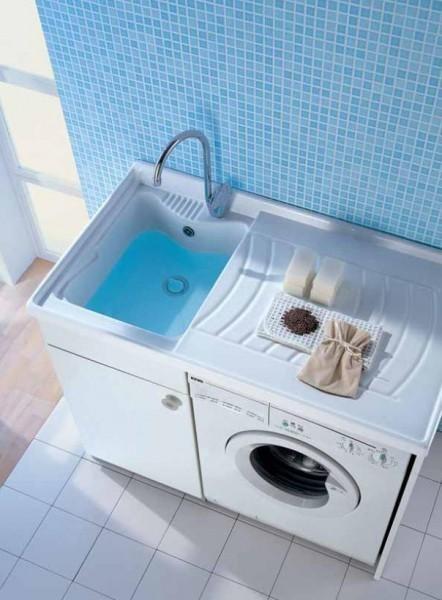 Tutto in ordine in lavanderia con Spazio #design #bathroom #home #furniture