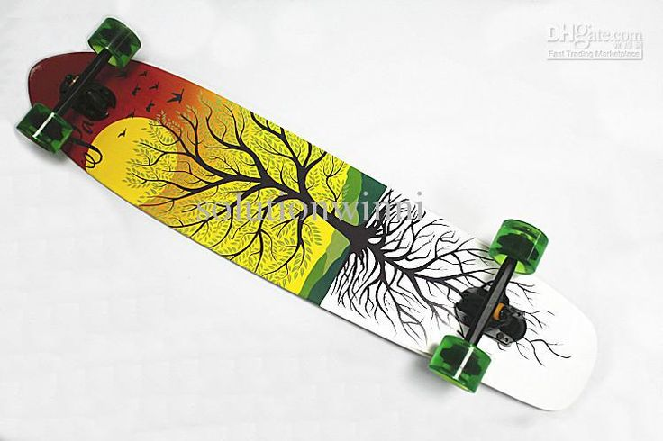 free shipping custom longboard printing best quality cool skateboards for sale