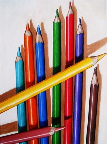 """Color the Day Happy"" - by Linda Apple.... ~Colored Pencils"