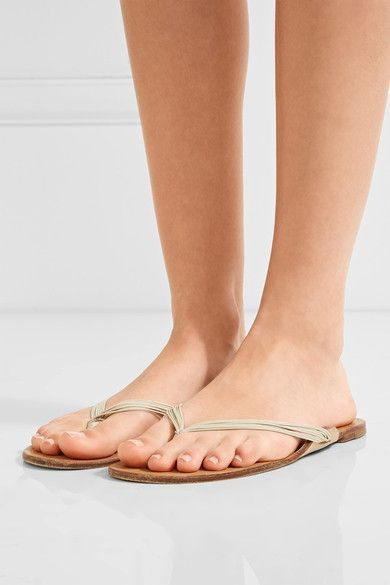The Row - Casablanca Leather Sandals - Neutral - IT41
