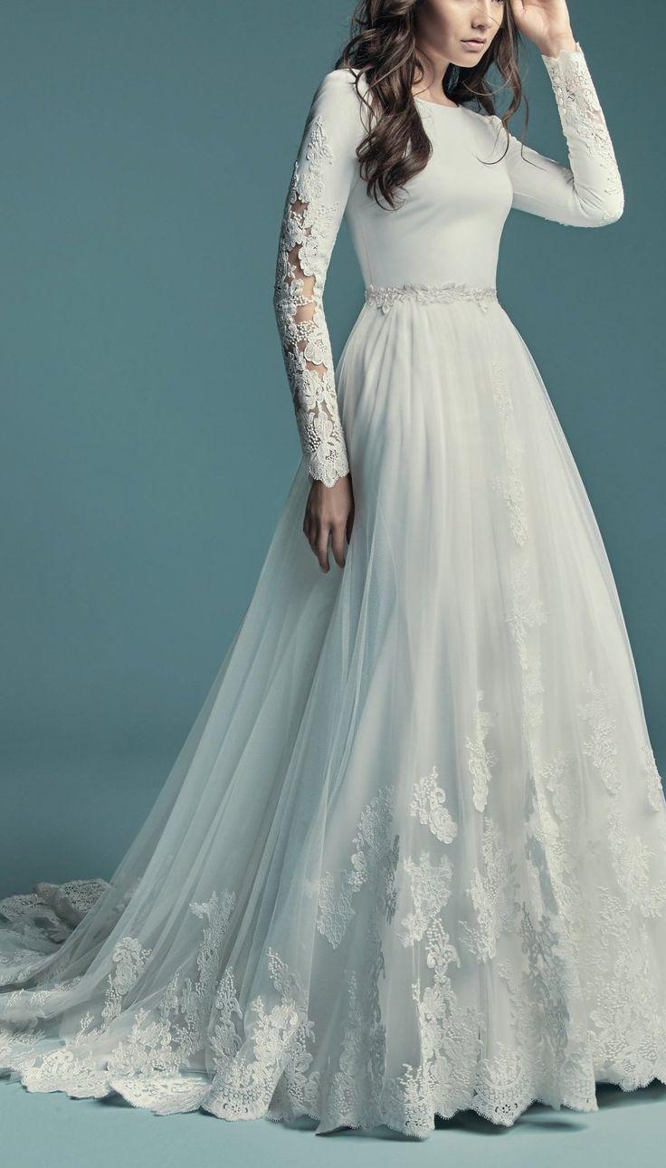 Favorite Sleeved Wedding Dresses Weeding Dress A Line Wedding Dress Wedding Dress Long Sleeve [ 1290 x 736 Pixel ]