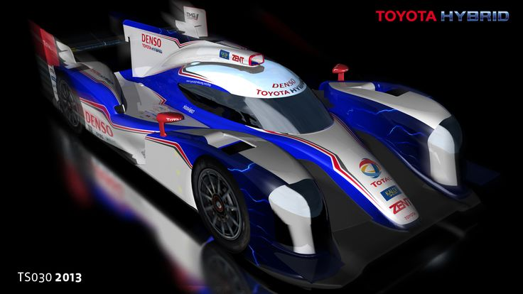 The Toyota TS030 Hybrid is a motor racing car developed under Le Mans Prototype rules. The livery design is by Aguti.