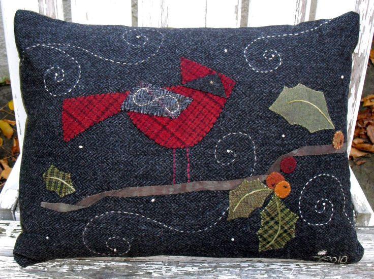 mug rug patterns for wool felt
