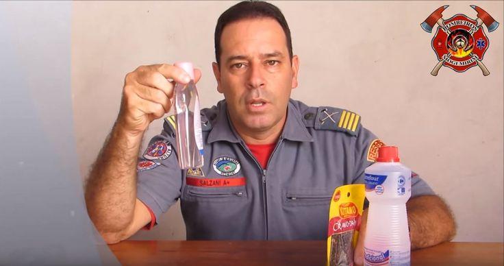 Alexandre Salzani, do Corpo de Bombeiros de Mogi Mirim, explica como fazer um repelente caseiro contra o Aedes aegypti.