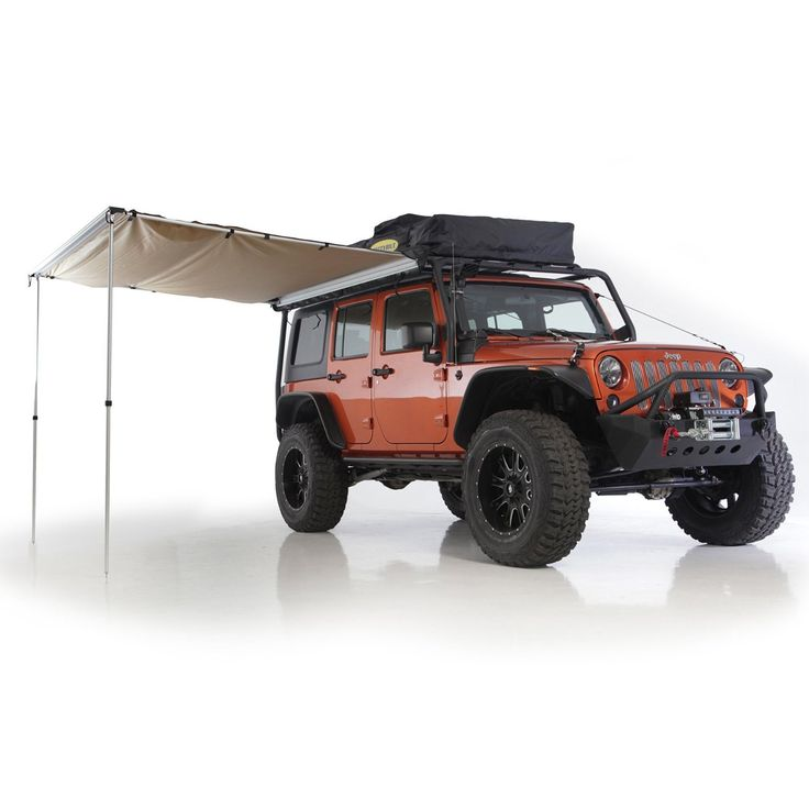 Smittybilt introduces the lightweight trail awning suitable for any roof rack equipped vehicle. Easily setup in minutes, Smittybilt's awnings are made from durable 600D polyester which can withstand e
