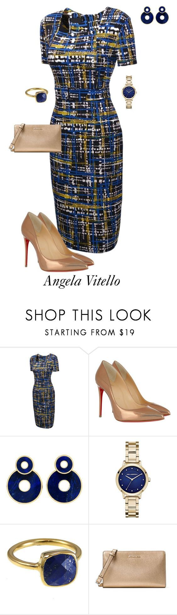 """""""Untitled #1024"""" by angela-vitello on Polyvore featuring Christian Louboutin, Karl Lagerfeld and MICHAEL Michael Kors"""
