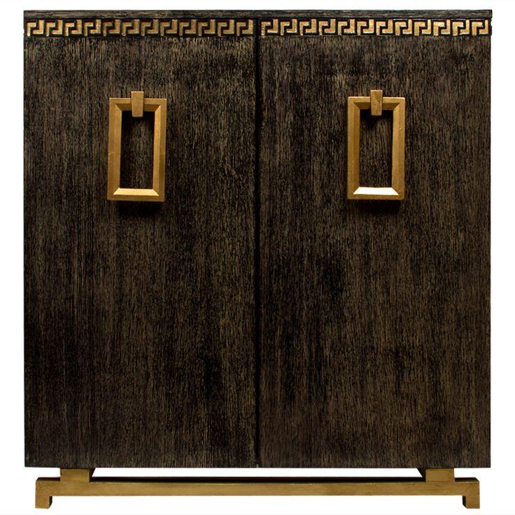 james mont style black cerused oak cabinet - usa - c1950