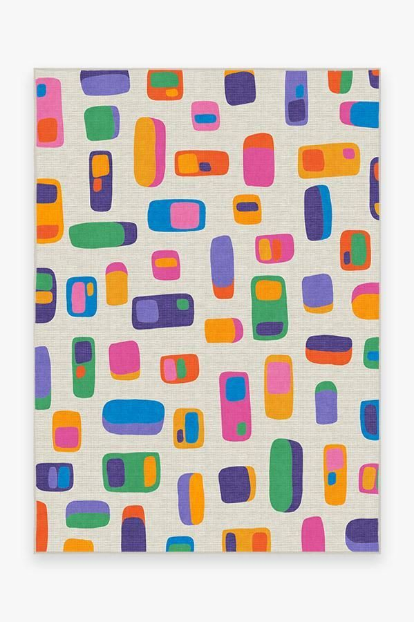 Ruggable Washable Rug Cover Pad Mimmo Multicolor Rug Stain