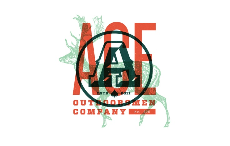Awesome layering: Outdoorsmen Identity, Ace Outdoorsmen, Outdoorsmen Company, Foundri Collection, Ace Logos, Graphicdesign, Graphics Design, Identity Design, Branding Identity
