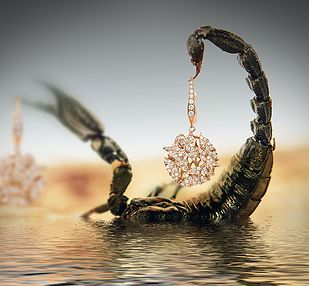 Creative jewellery photography with water, at RGB Digital Ltd London