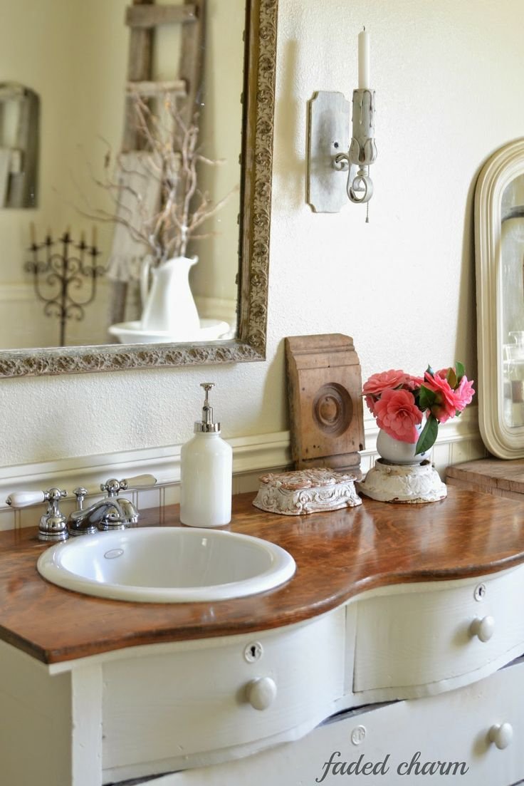 Antique dresser bathroom vanity - Find This Pin And More On Old Dresser Turns Into Bathroom Vanity