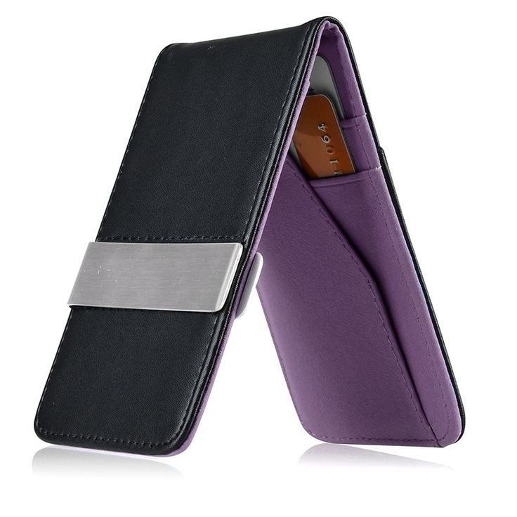 Zodaca Slim-fit Genuine Detachable Men's Money Clip Wallet with Card Slots