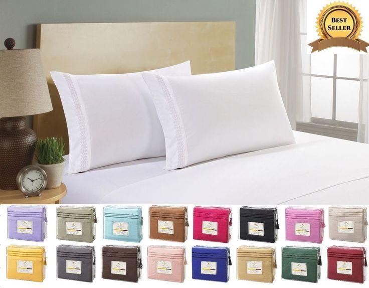 Deep Pocket Bed Sheet Set 4 Piece Comfort Deluxe Brushed Microfiber Bed Sheets #ClaraClarkCollection