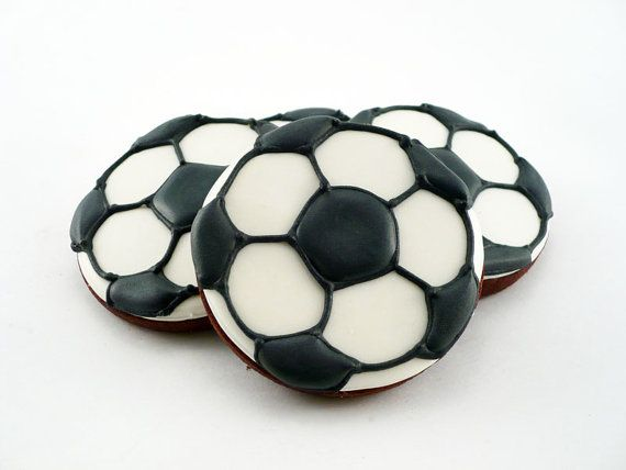 Decorated Cookies  Soccer  1 dozen by katieduran on Etsy, $30.00