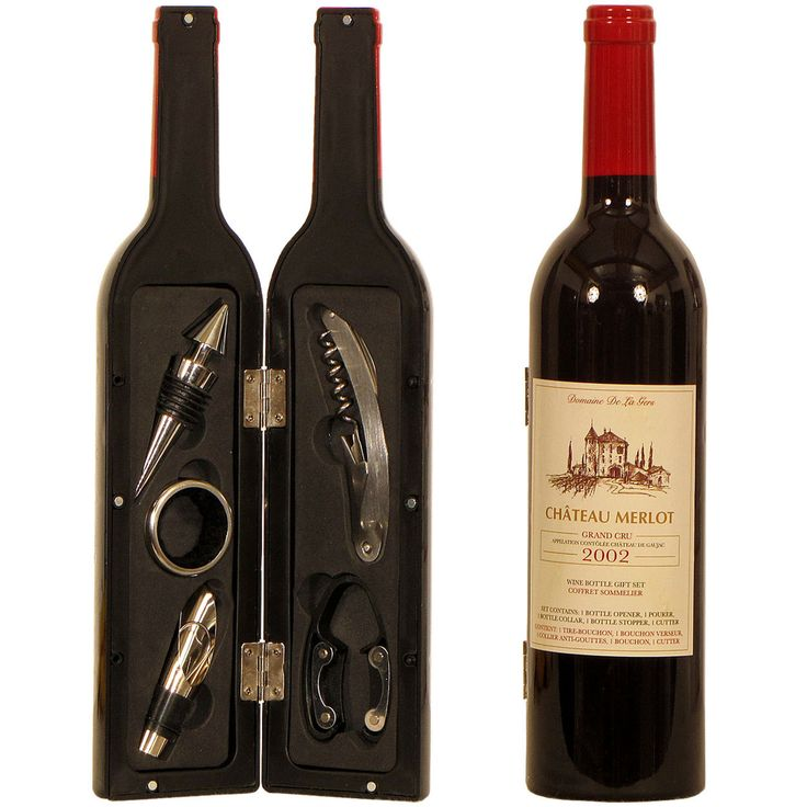 Deluxe Wine Bottle Gift Set by thehomedesignstore on Etsy