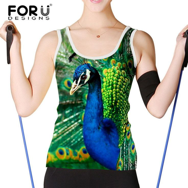3D Animal Print Womens Sleeveless Tank Tops Ladies Casual Sport Shirts Cami Vest
