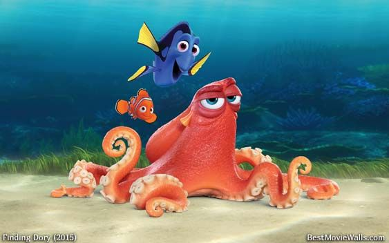 octopus girl from finding nemo 10 inch hank octopus finding dory nemo 2 movie removable peel self stick adhesive vinyl wall decal sticker art kids room home decor girl boy children.