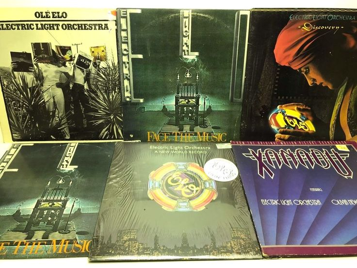 ELO Electric Light Orchestra Vinyl Record Album Lot Face the Music + Discovery + stores.ebay.com/capcollectibles