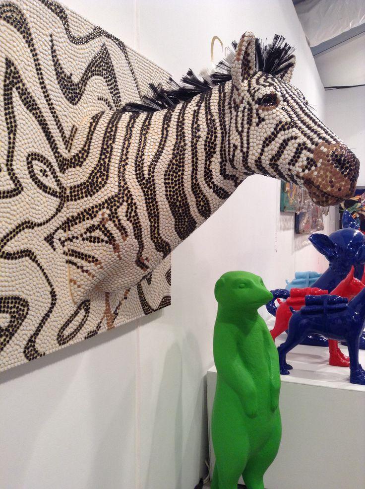 Zebra gemaakt van push pins   Kunst kantoor   Push pin art ...