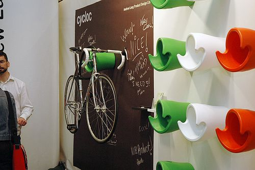 Super cool bike storage unit.
